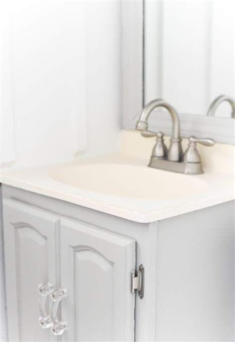 painted gray bathroom vanity cabinet sherwin williams