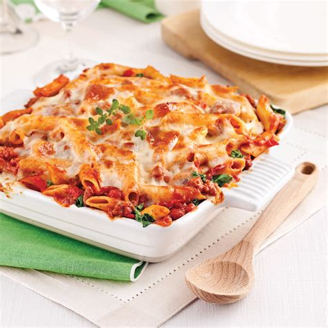 cuisine italienne pates gratin de pâtes sauce italienne aux tomates séchées