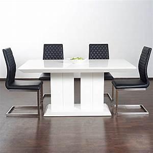 Hochglanz Tisch Weiß : hochglanz esstisch tisch marbella 160x90cm lack weiss s ulentisch m bel24 xxl m bel ~ Frokenaadalensverden.com Haus und Dekorationen