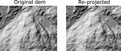 Gdal Creates Raster Artifact Warp Reproject Hillshade