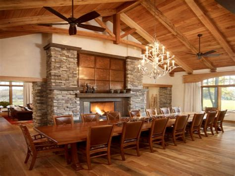 Wooden Round Dining Table And Chairs, Long Dining Room