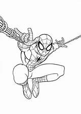 Ultimate Spider Spiderman Coloring Pages Fun sketch template