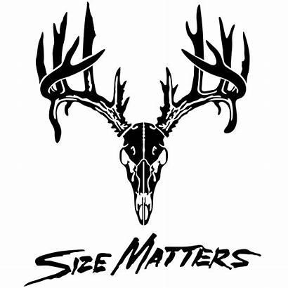 Deer Skull Decal Matters Antler Head Hunting