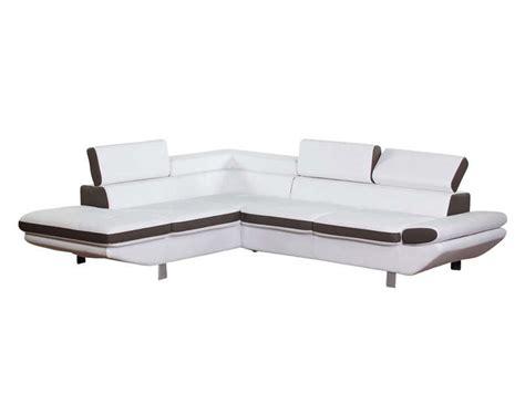 canape d angle loft canapé d 39 angle fixe gauche 5 places loft coloris blanc