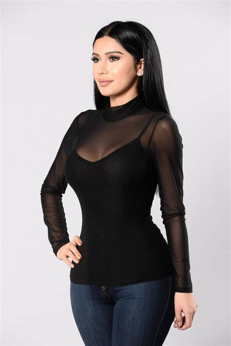 Chrissy Top - Black, Knit Tops | Fashion Nova