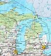 Detroit, Michigan Map