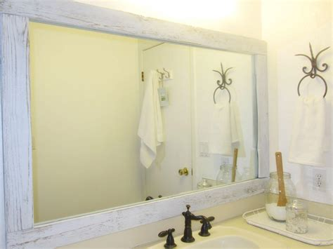 bathroom wall mirror rustic bathroom wall mirror with white stained mahogany