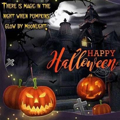 Quotes Pumpkins Glow Halloween Moonlight Happy Card