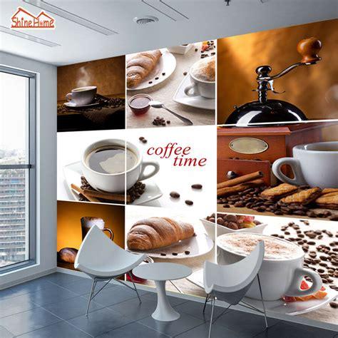 custom coffee cafe photo wallpaper rolls wall mural  bar