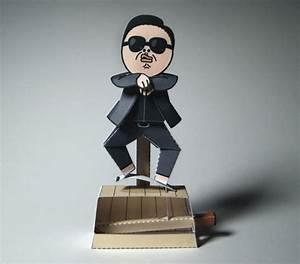 Automata PSY Gangnam Style Machine Free Papercraft Download