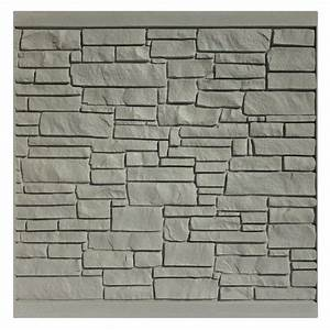 Faux stone wall panels pattern for interior or exterior