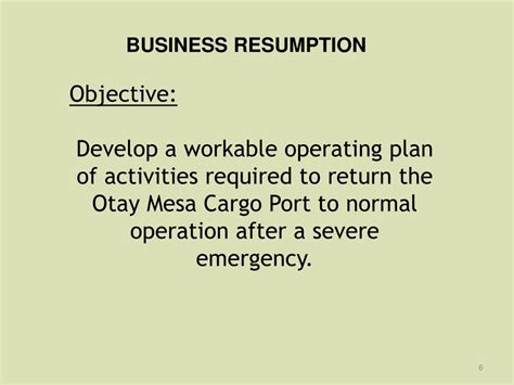 Define Resumption by Ppt Business Resumption Communication And Coordination