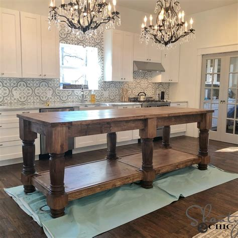 diy kitchen island  plans   video shanty  chic