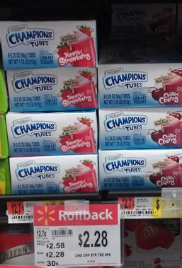 chobani champions yogurt tubes coupon   walmart