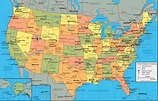 Physical Map of the United States of America