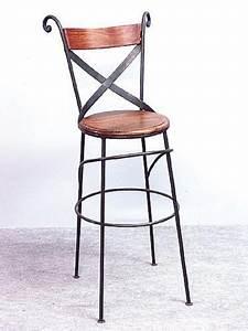 Tabouret De Bar Fer : tabouret de bar palissandre fer forg crois tabourets de bar tabouret bar et fauteuil ~ Dallasstarsshop.com Idées de Décoration