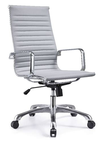 joplin high back gray leather conference chair by woodstock