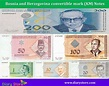 Bosnia and Herzegovina convertible mark currency   Bank Notes