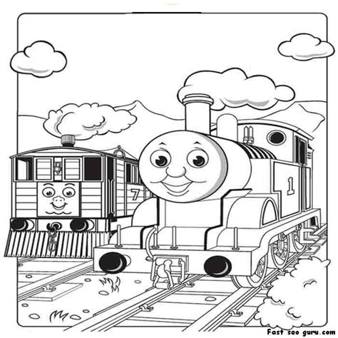 thomas  train coloring pages printable  girls  boys