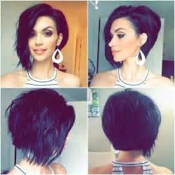 Short Asymmetrical Haircuts Back View
