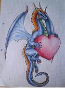 Dragon With Heart Drawing - Shemyazza    2017 - Aug 3  2010  Dragons And Hearts Drawings