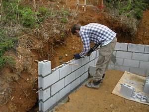 retaining wall block to build farmhouse design and With building a garden wall with concrete blocks