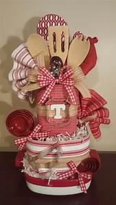 kitchen towel cake wedding shower gift with law With wedding shower gift baskets