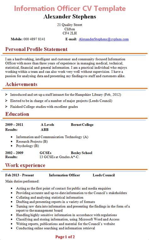information officer cv