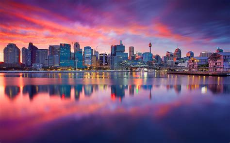 City , Sydney, Dawn Wallpaper 1680x1050 Resolution
