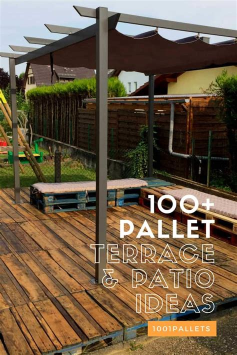 pallet decks pallet terraces patios  pallets