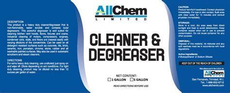 Degreasers   AllChem Limited