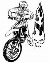 Motorcycle Coloring Victory Printable Motorcycles Enduro Tricks Ready Raskrasil sketch template
