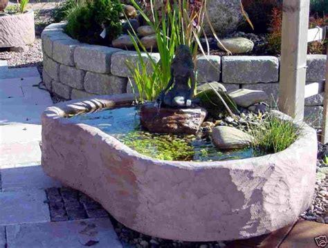 Miniteiche Und Wasserspiele by Mini Teich Mit Bronzefigur Springbrunnen Wasserspiel