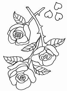 Kostenlose Malvorlage Muttertag Rosen Zum Ausmalen Zum