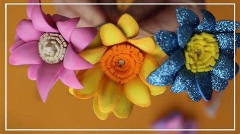 Como hacer flores de goma eva Paso a Paso Flores para