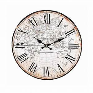 Uhr Zum Hinstellen : uhr welt d 30cm natur depot de ~ Michelbontemps.com Haus und Dekorationen