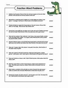 fractions word problems worksheets yahoo image search