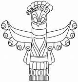 Totem Pole Coloring Drawing Animal Cool Poles Printable Craft K5worksheets Sketch Sheets sketch template