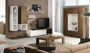 Meuble Haut Salon : ensemble meuble tv mural notte mobilier design pour salon bois ~ Teatrodelosmanantiales.com Idées de Décoration