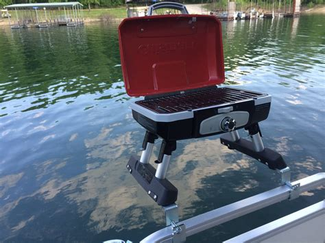 Boat Grills by Pontoon Boat Grill Bracket Set