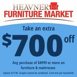 Heavner 700dollar Coupon 250x250 Heavner Furniture Market