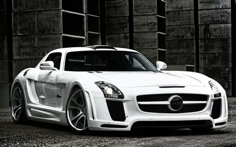 Mercedes Sport Car Wallpaper by White Cars Front German Roadster Sls Amg Sports Car Sports