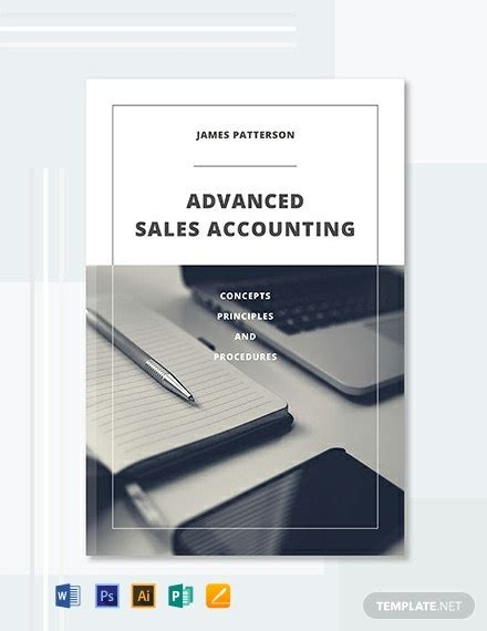 accounting book cover template word  psd