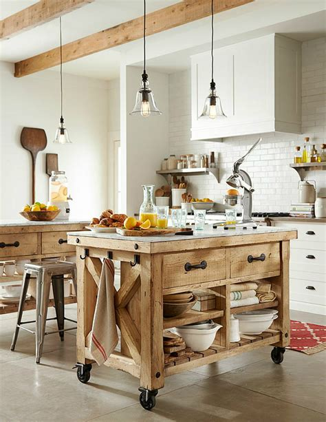 pottery barn kitchen islands 20 best kitchen trolleys carts decoholic
