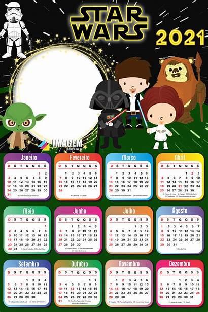 2021 Star Wars Moldura Calendario Gratis Gratis