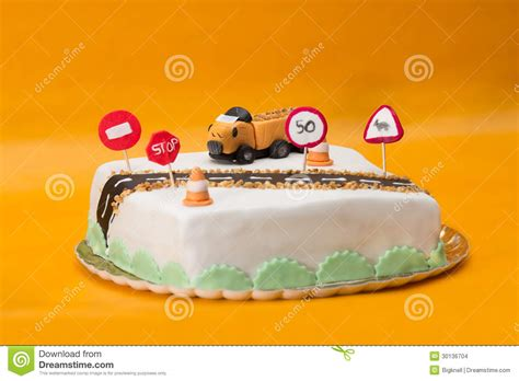 truck driver birthday cake stock images image