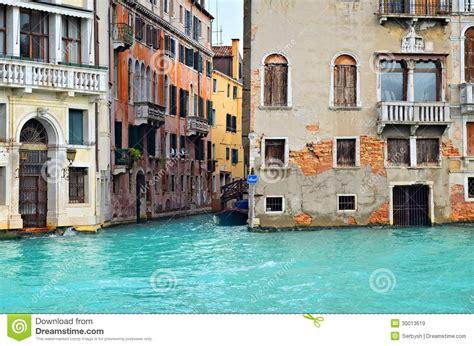 Beautiful Water Street Venice Italy Stock Image Image