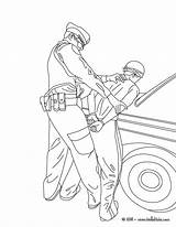 Coloring Police Officer Pages Policeman Boys Joe sketch template