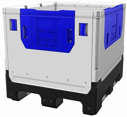 Bulk Solid Container Folding Ibc Plastic Assembly