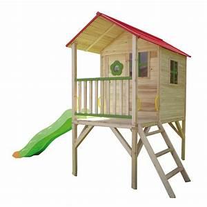 Maisonnette En Bois Sur Pilotis : trigano maisonnette bois armelle sur pilotis store ~ Dailycaller-alerts.com Idées de Décoration